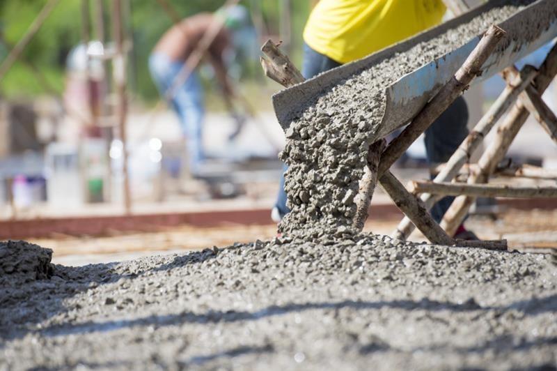 Concreto para construção civil