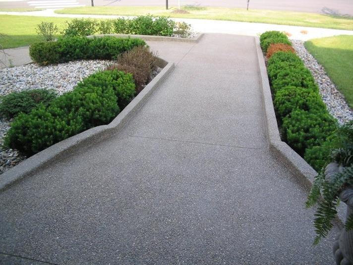 Concreto usinado para calçada