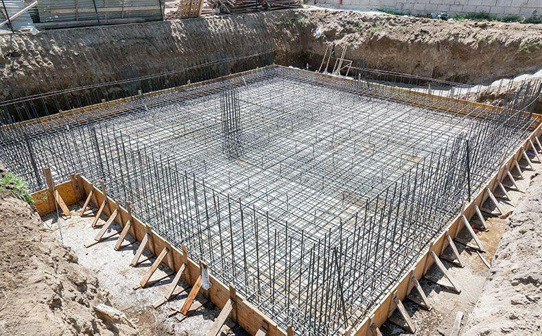 Concreto usinado para fundação