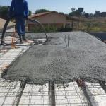 Concreto usinado para laje residencial